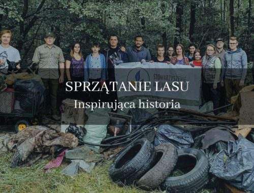 akcja sprzątamy Las Panewnicki cała ekpia prz śmieciach
